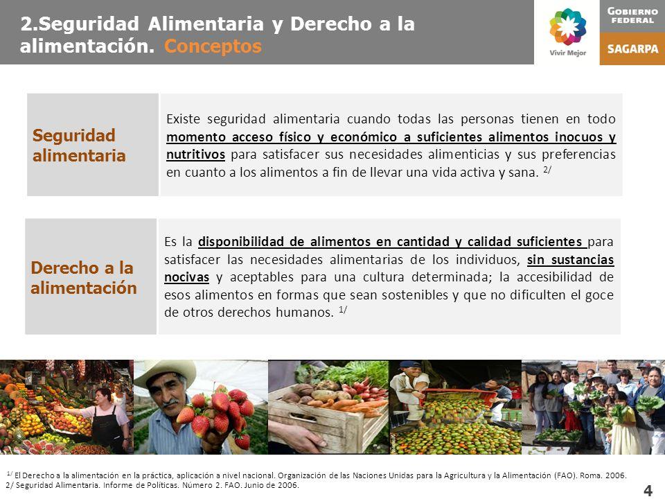 2.Seguridad Alimentaria y Derecho a la alimentación. Conceptos 1/ El Derecho a la alimentación en la práctica, aplicación a nivel nacional. Organizaci