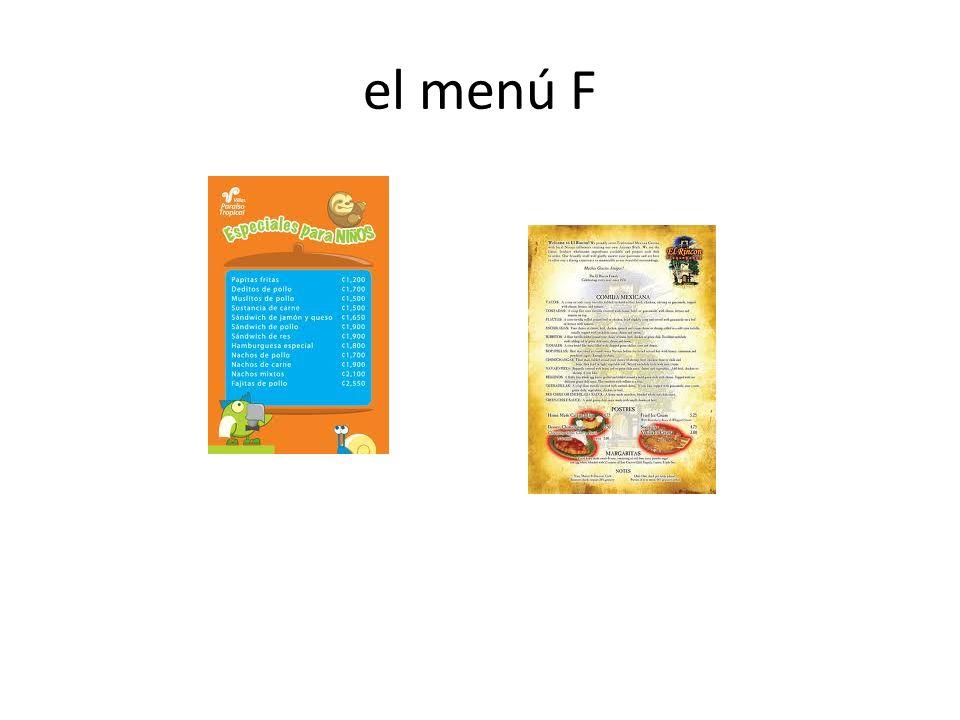 el menú F
