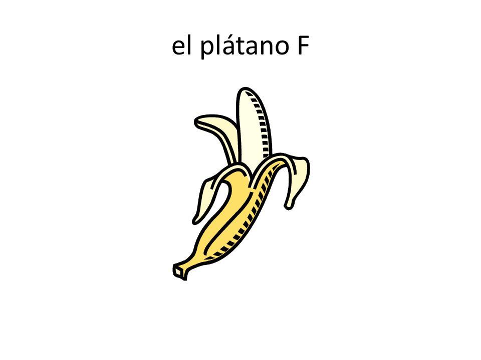 el plátano F