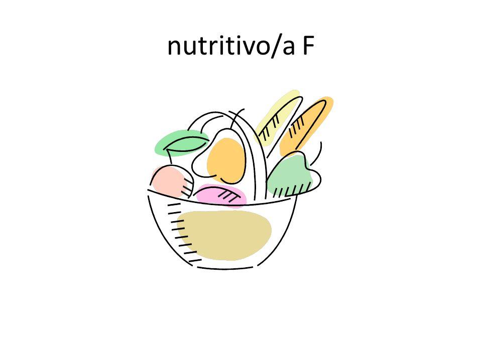 nutritivo/a F