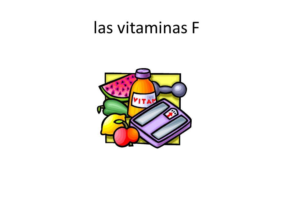 las vitaminas F