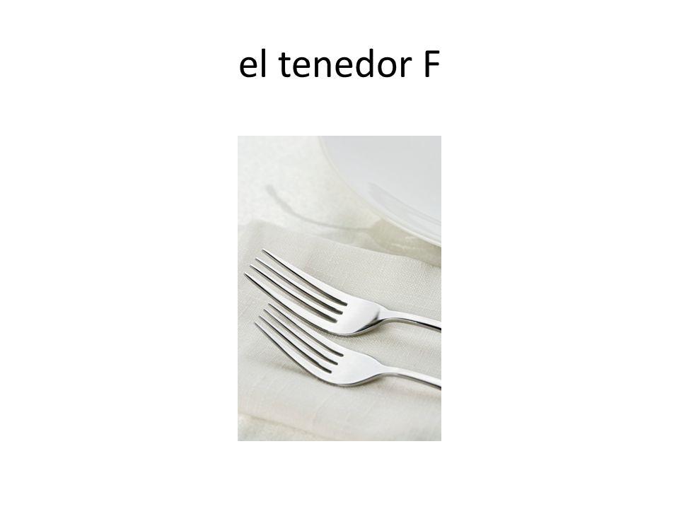 el tenedor F