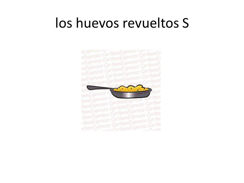 los huevos revueltos S