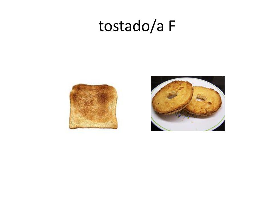 tostado/a F