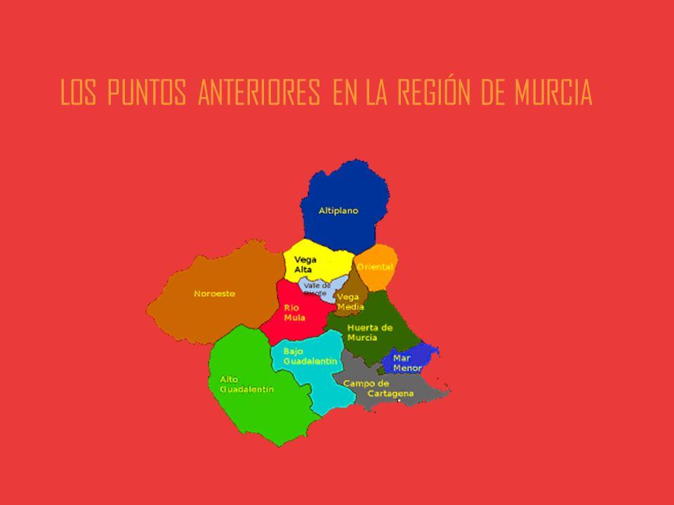 LOS PUNTOS ANTERIORES EN LA REGIÓN DE MURCIA