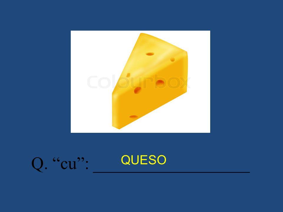 Q. cu: __________________ QUESO