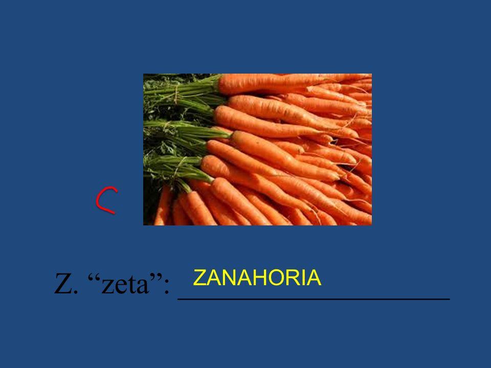 Z. zeta: __________________ ZANAHORIA