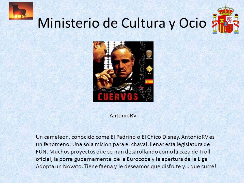 Ministerio de Cultura y Ocio AntonioRV Un cameleon, conocido come El Padrino o El Chico Disney, AntonioRV es un fenomeno. Una sola mision para el chav