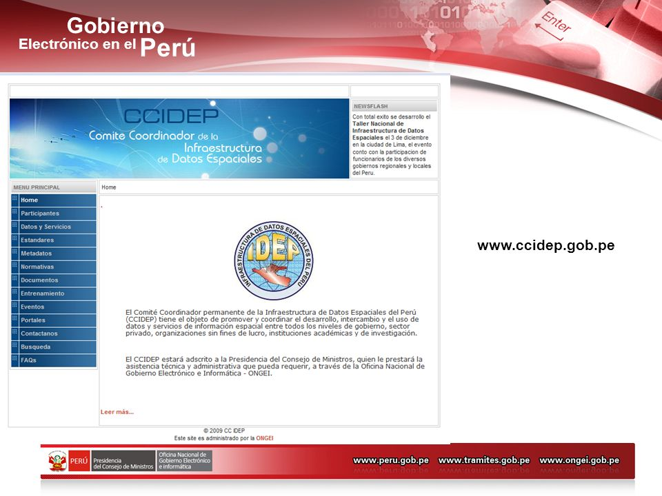 Gobierno Perú Electrónico en el Acciones Priorizadas Año 2007- 2008 www.ccidep.gob.pe