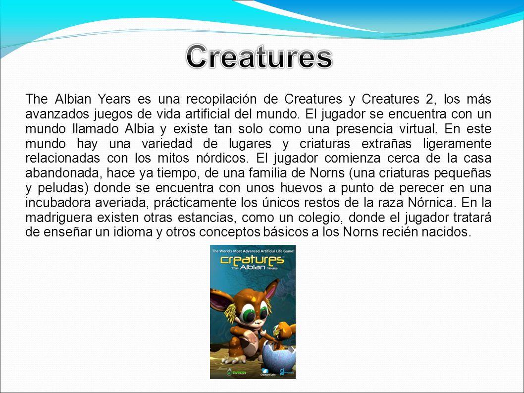 The Albian Years es una recopilación de Creatures y Creatures 2, los más avanzados juegos de vida artificial del mundo. El jugador se encuentra con un