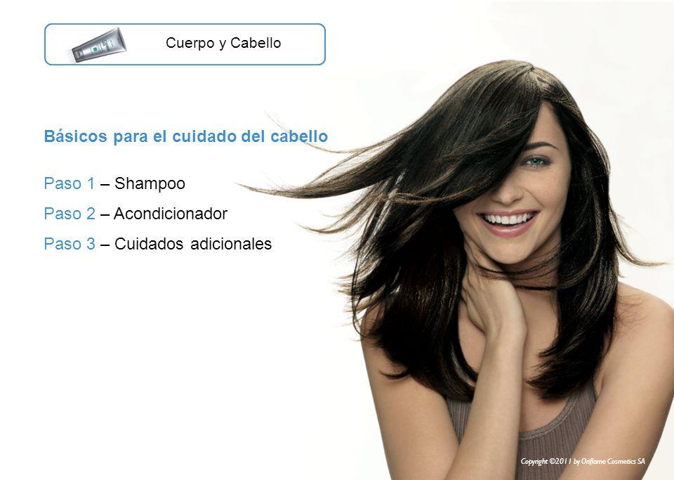 Básicos para el cuidado del cabello Paso 1 – Shampoo Paso 2 – Acondicionador Paso 3 – Cuidados adicionales Cuerpo y Cabello Copyright ©2011 by Oriflam