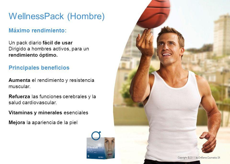 WellnessPack (Hombre) Máximo rendimiento: Un pack diario fácil de usar Dirigido a hombres activos, para un rendimiento óptimo. Principales beneficios