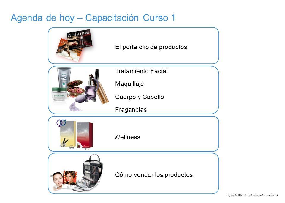 Tratamiento Facial Maquillaje Cuerpo y Cabello Fragancias Agenda de hoy – Capacitación Curso 1 El portafolio de productos Wellness Cómo vender los pro