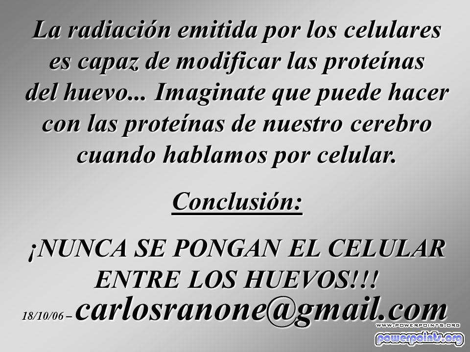 La radiación emitida por los celulares es capaz de modificar las proteínas del huevo...