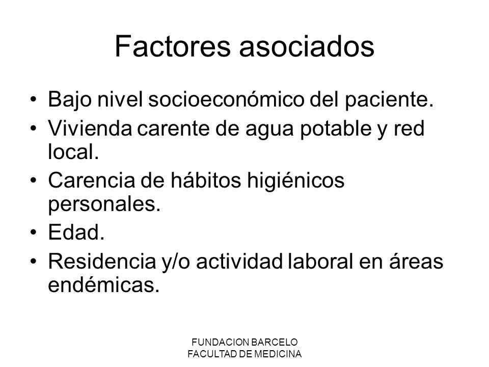 FUNDACION BARCELO FACULTAD DE MEDICINA Diagnóstico presuntivo Datos clínicos: Síndrome enteroparasitario inespecífico.