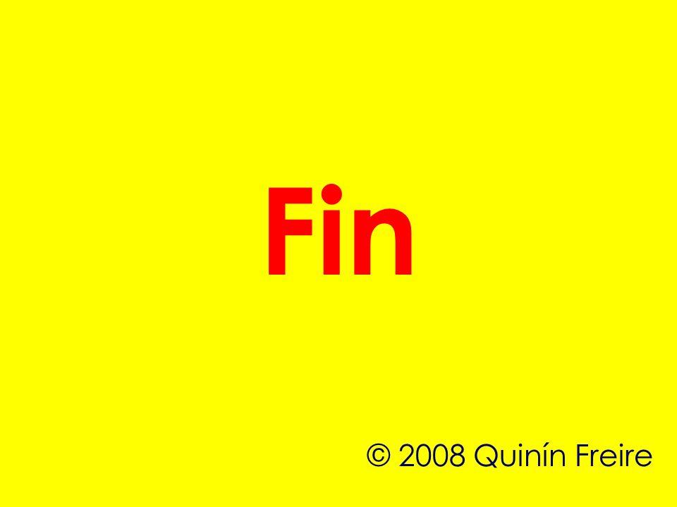 Fin © 2008 Quinín Freire