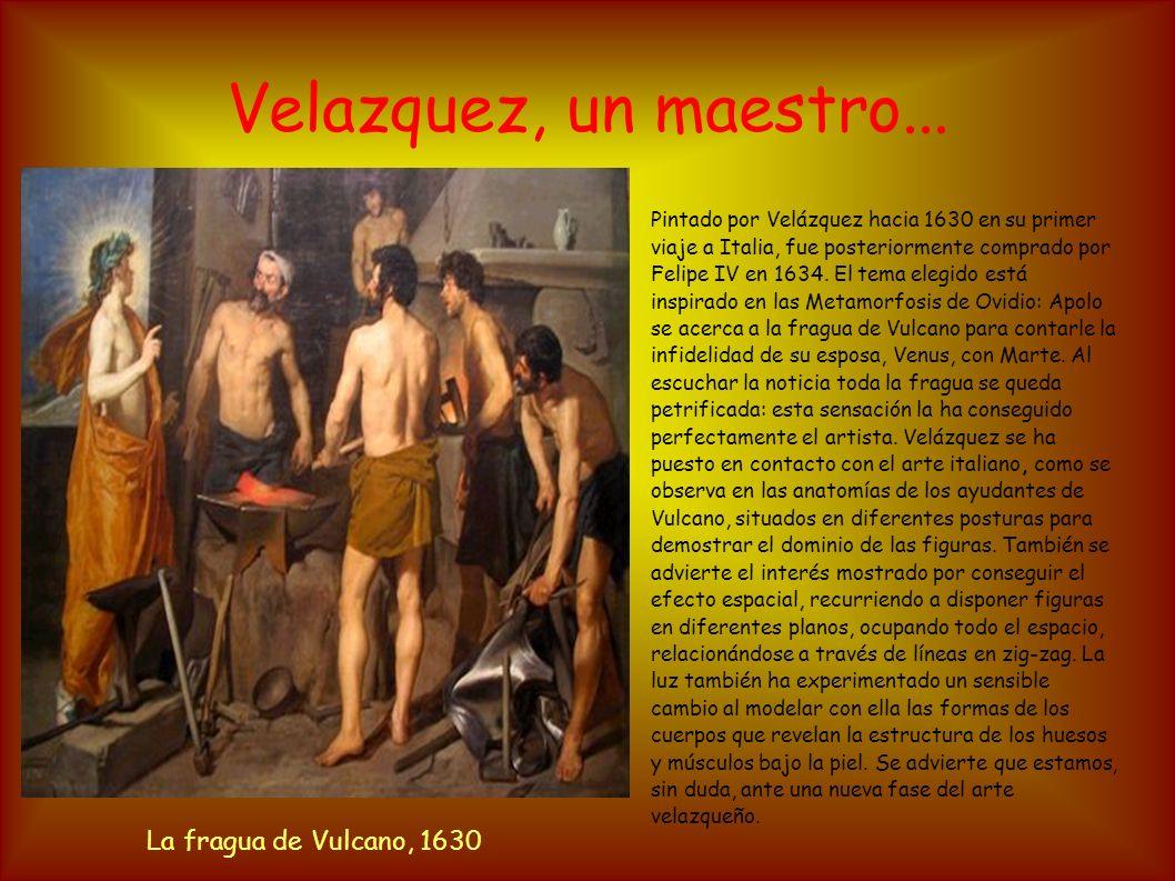 Velazquez, un maestro... Pintado por Velázquez hacia 1630 en su primer viaje a Italia, fue posteriormente comprado por Felipe IV en 1634. El tema eleg