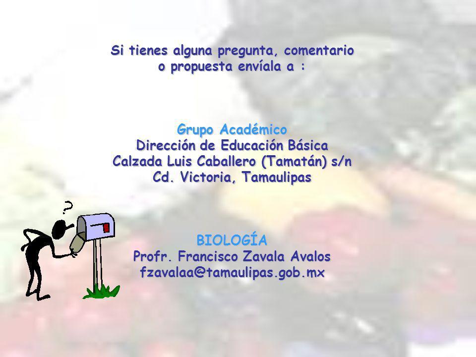 Si tienes alguna pregunta, comentario o propuesta envíala a : Grupo Académico Dirección de Educación Básica Calzada Luis Caballero (Tamatán) s/n Cd.