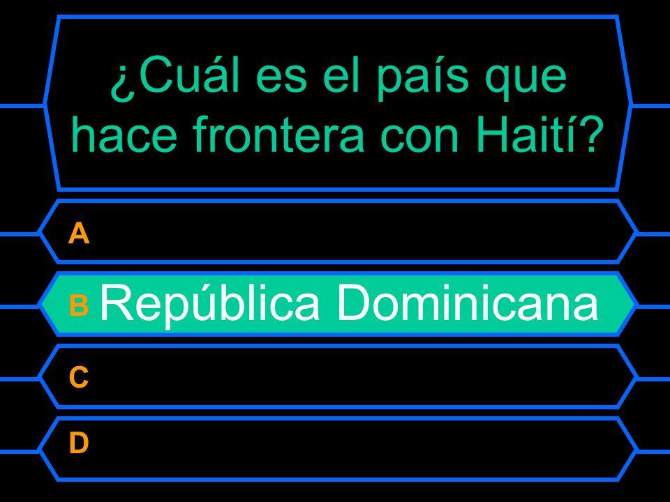 ¿Cuál es el país que hace frontera con Haití.