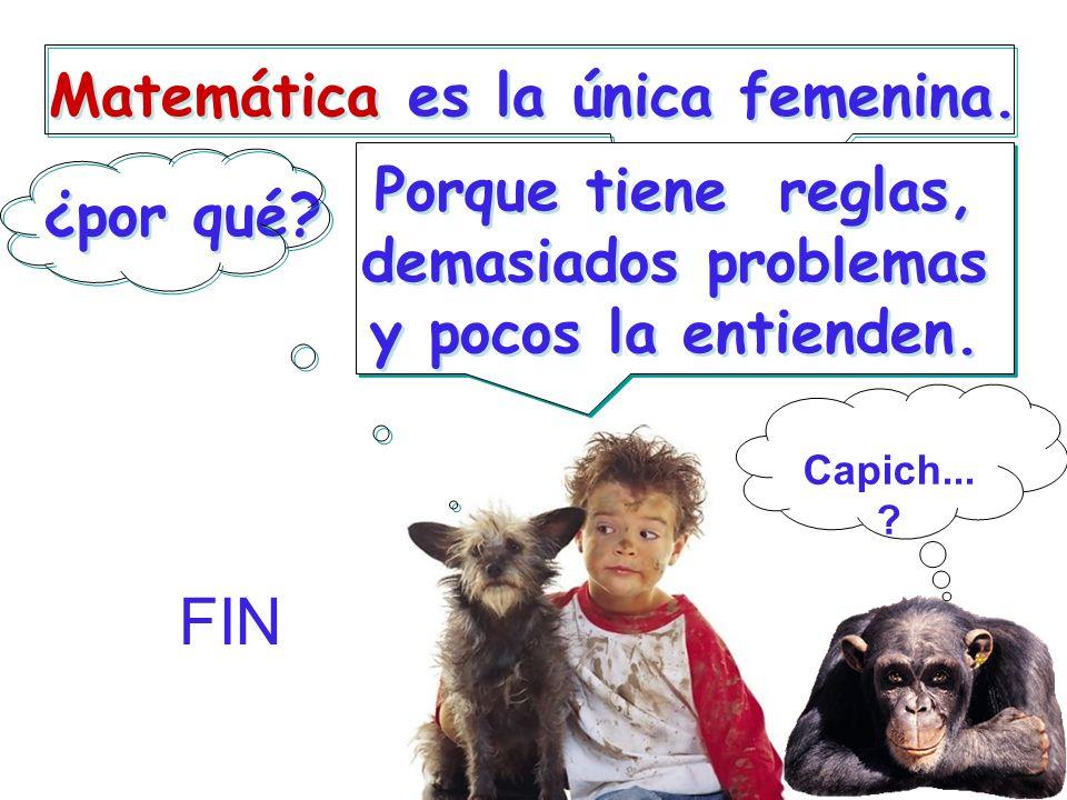 Matemática es la única femenina.¿por qué.