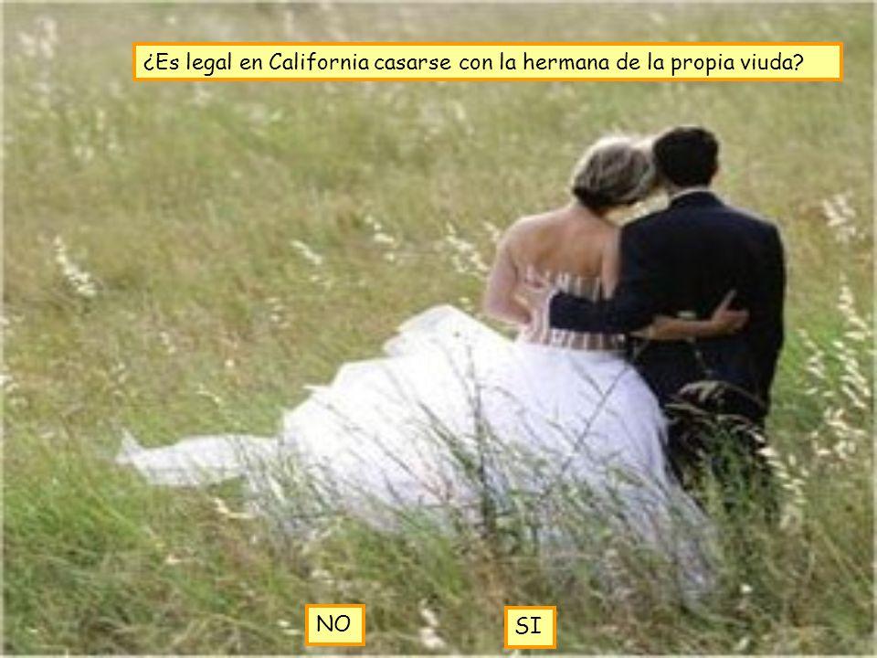 ¿Es legal en California casarse con la hermana de la propia viuda? NO SI