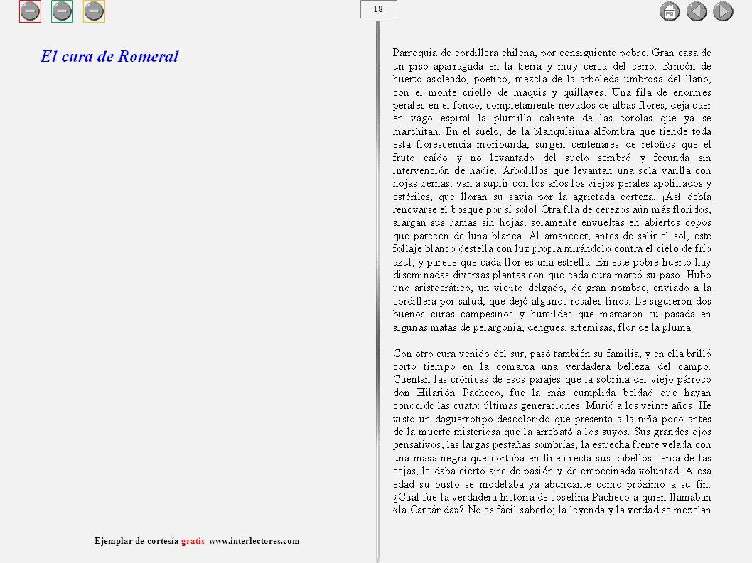 19 Ejemplar de cortesía gratis www.interlectores.com Cuentos de Joaquín Díaz Garcés (Angel Pino) El cura de Romeral