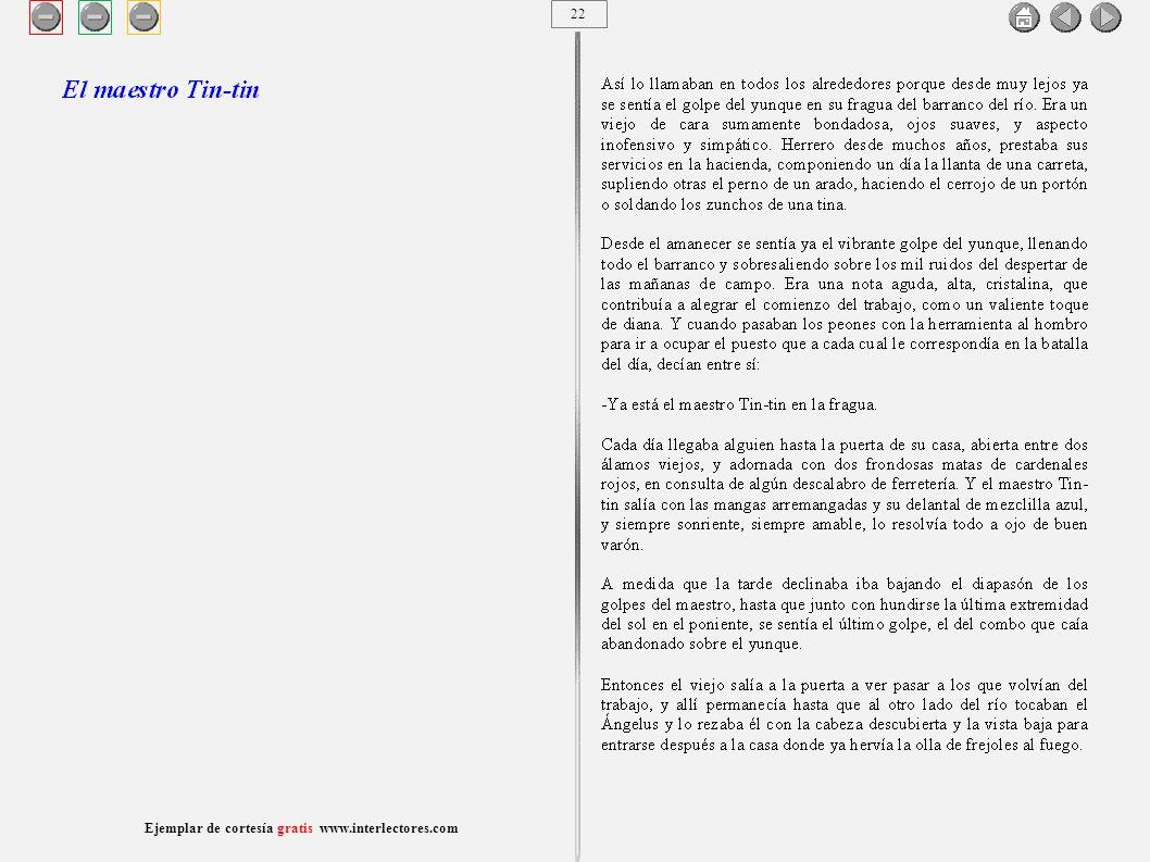 23 Ejemplar de cortesía gratis www.interlectores.com Cuentos de Joaquín Díaz Garcés (Angel Pino) El maestro Tin-tin