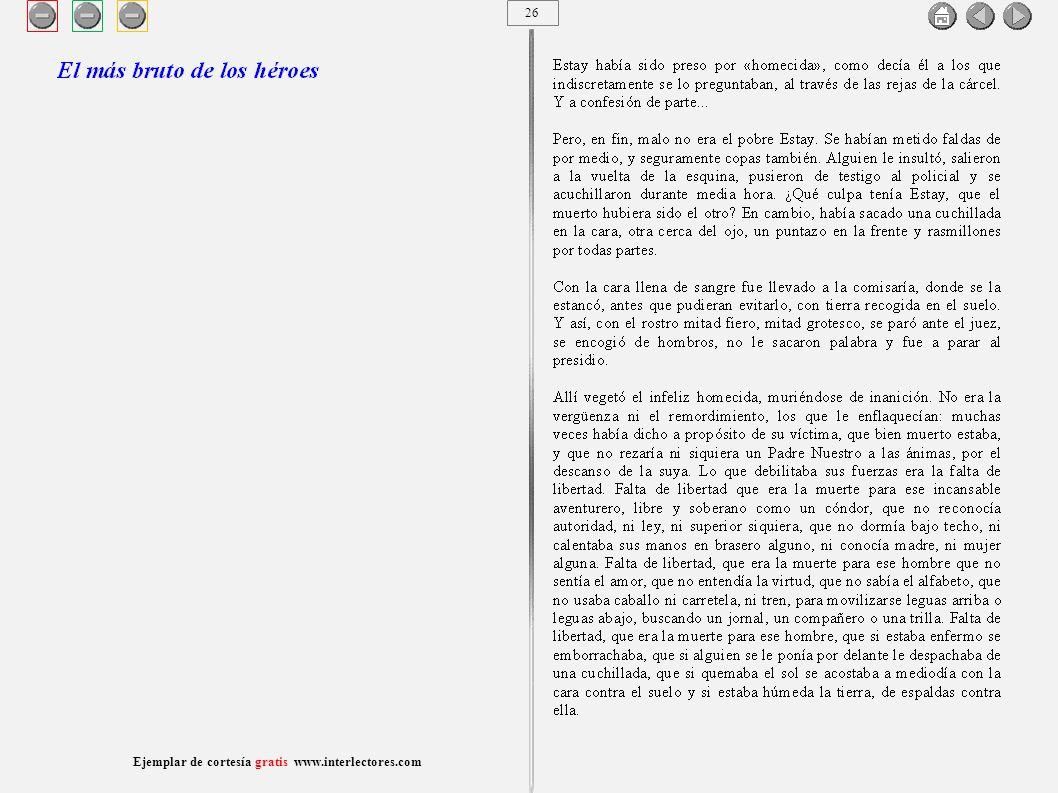 27 Ejemplar de cortesía gratis www.interlectores.com Cuentos de Joaquín Díaz Garcés (Angel Pino) El más bruto de los héroes