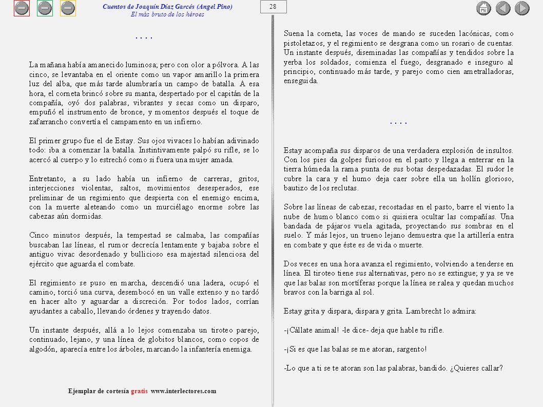 29 Ejemplar de cortesía gratis www.interlectores.com Cuentos de Joaquín Díaz Garcés (Angel Pino) El más bruto de los héroes