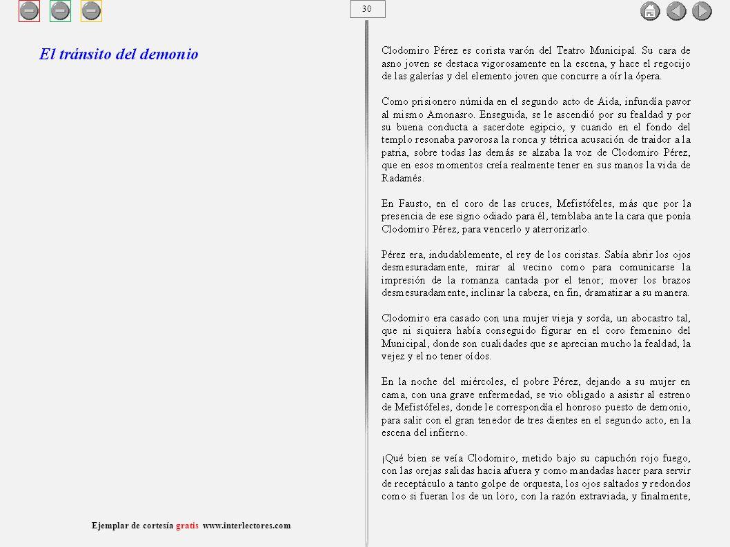 31 Ejemplar de cortesía gratis www.interlectores.com Cuentos de Joaquín Díaz Garcés (Angel Pino) El tránsito del demonio