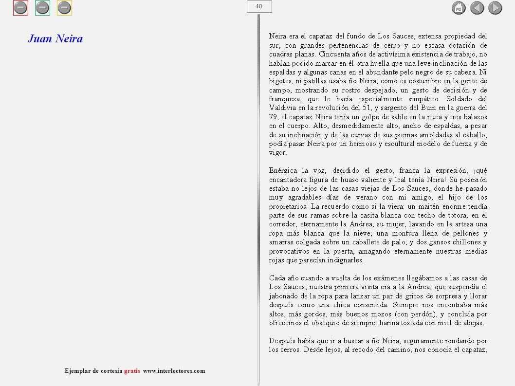 41 Ejemplar de cortesía gratis www.interlectores.com Cuentos de Joaquín Díaz Garcés (Angel Pino) Juan Neira