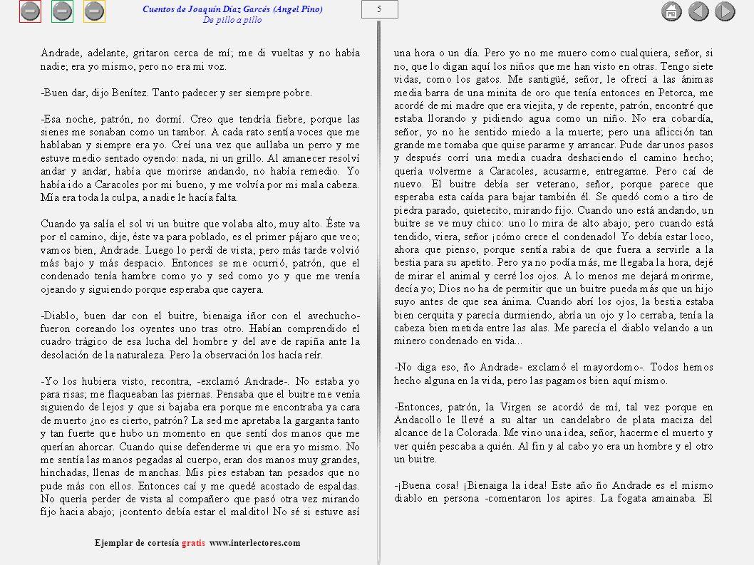 6 Ejemplar de cortesía gratis www.interlectores.com Cuentos de Joaquín Díaz Garcés (Angel Pino) De pillo a pillo