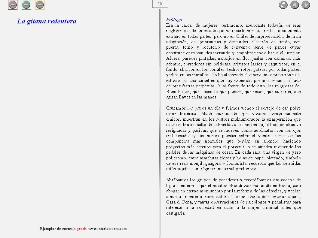 51 Ejemplar de cortesía gratis www.interlectores.com Cuentos de Joaquín Díaz Garcés (Angel Pino) La gitana redentora