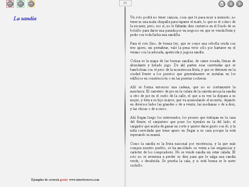 56 Ejemplar de cortesía gratis www.interlectores.com Cuentos de Joaquín Díaz Garcés (Angel Pino) La sandía
