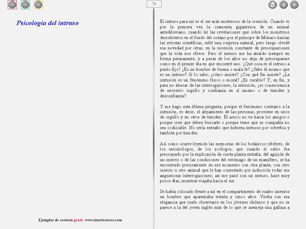 75 Ejemplar de cortesía gratis www.interlectores.com Cuentos de Joaquín Díaz Garcés (Angel Pino) Psicología del intruso