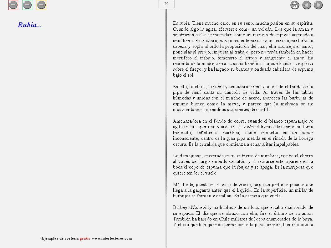 80 Ejemplar de cortesía gratis www.interlectores.com Cuentos de Joaquín Díaz Garcés (Angel Pino) Rubia...
