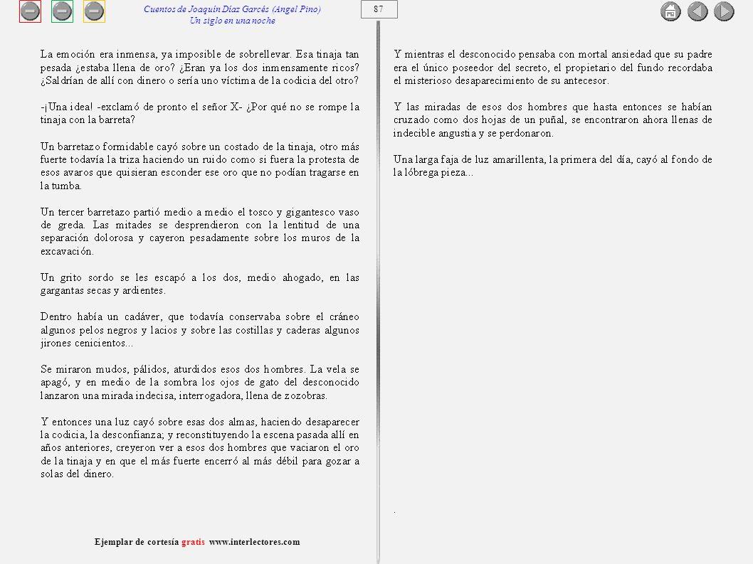 2008 www.interlectores.com Imagen: http://www.memoriachilena.cl/archivos2/thumb67/MC0036008.jpg http://www.memoriachilena.cl/archivos2/thumb67/MC0036008.jpg Cuentista, novelista y periodista, Joaquín Díaz Garcés es uno de los nombres fundamentales en el desarrollo del periodismo moderno en Chile, además de ser uno de los principales continuadores, a través de sus múltiples columnas y artículos de prensa, del estilo costumbrista, mordaz y frontal.........
