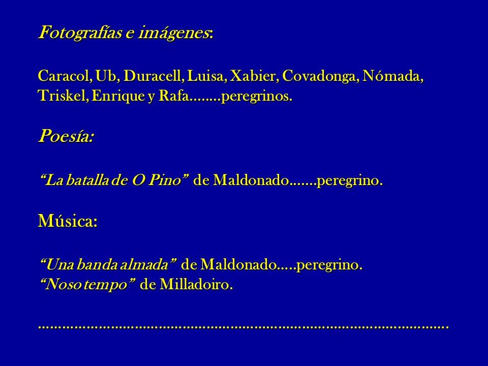 Foros y webs: Asociación Gallega Jacobeo.net Santa Felicia Peregrinosasantiago Peregrinos de Albacete Federación (foro) Mundicamino (noticias) Caminoasantiago