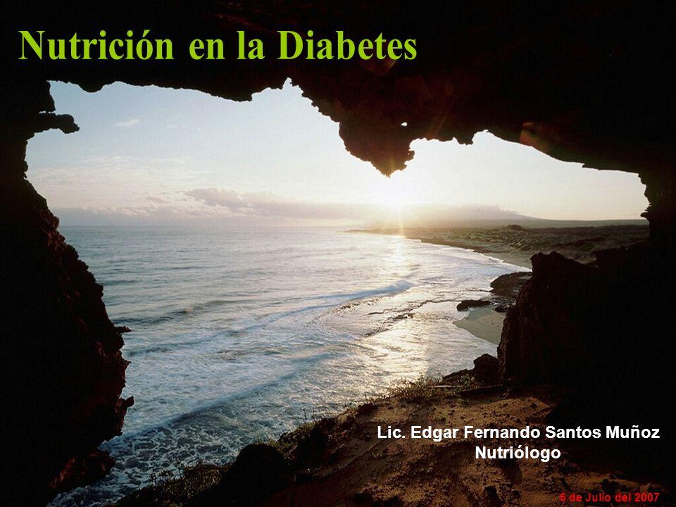 Lic. Edgar Fernando Santos Muñoz Nutriólogo 6 de Julio del 2007
