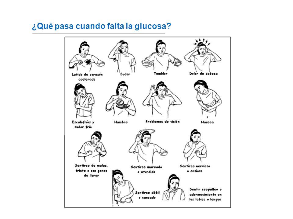¿Qué pasa cuando falta la glucosa? Fuente: http://www.fundaciondiabetes.org/box02.htm