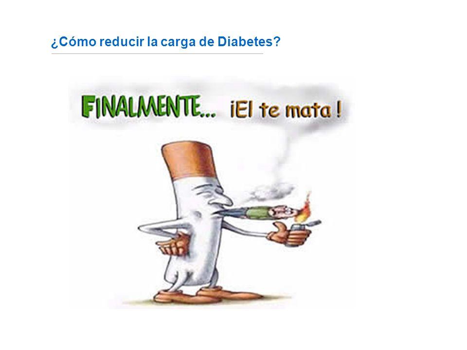 ¿Cómo reducir la carga de Diabetes? Fuente: http://www.fundaciondiabetes.org/box02.htm