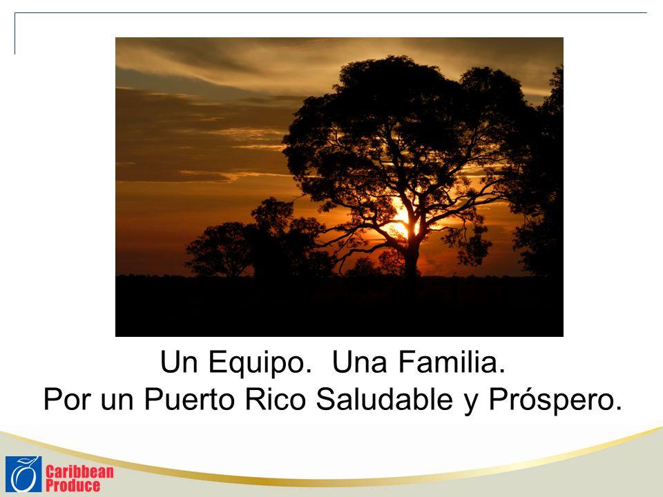 Un Equipo. Una Familia. Por un Puerto Rico Saludable y Próspero.