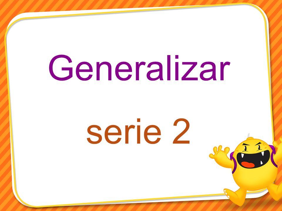 Generalizar serie 2