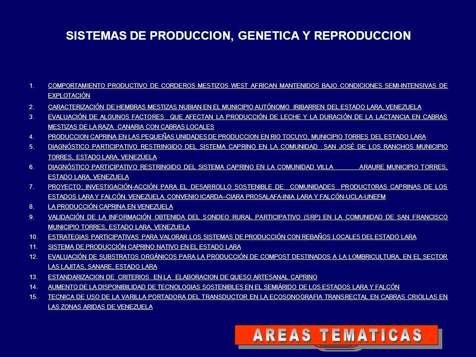 SISTEMAS DE PRODUCCION, GENETICA Y REPRODUCCION 1.COMPORTAMIENTO PRODUCTIVO DE CORDEROS MESTIZOS WEST AFRICAN MANTENIDOS BAJO CONDICIONES SEMI-INTENSI