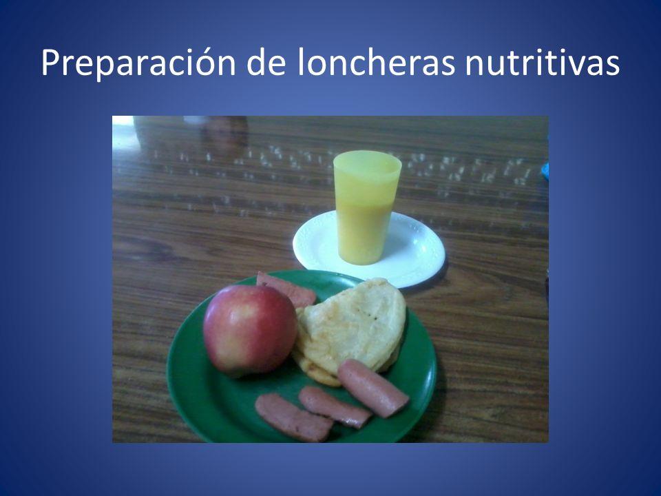 Preparación de loncheras nutritivas