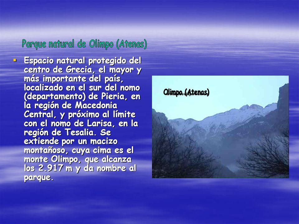 Espacio natural protegido del centro de Grecia, el mayor y más importante del país, localizado en el sur del nomo (departamento) de Pieria, en la regi
