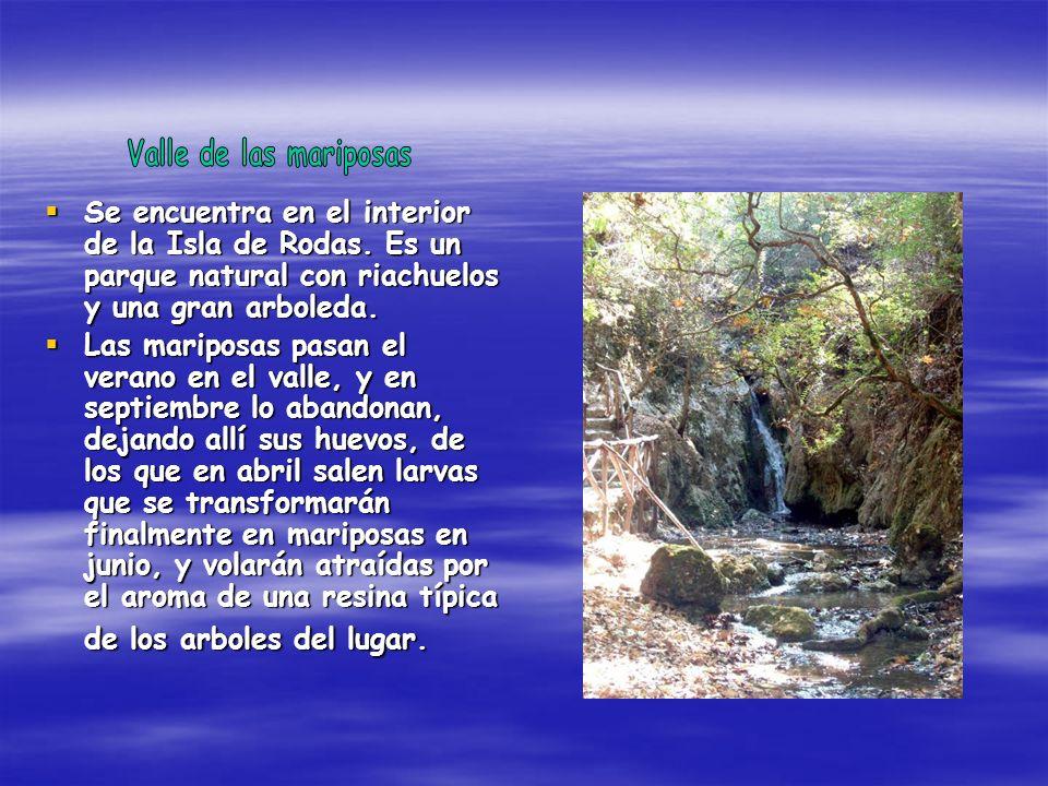 Se encuentra en el interior de la Isla de Rodas. Es un parque natural con riachuelos y una gran arboleda. Se encuentra en el interior de la Isla de Ro