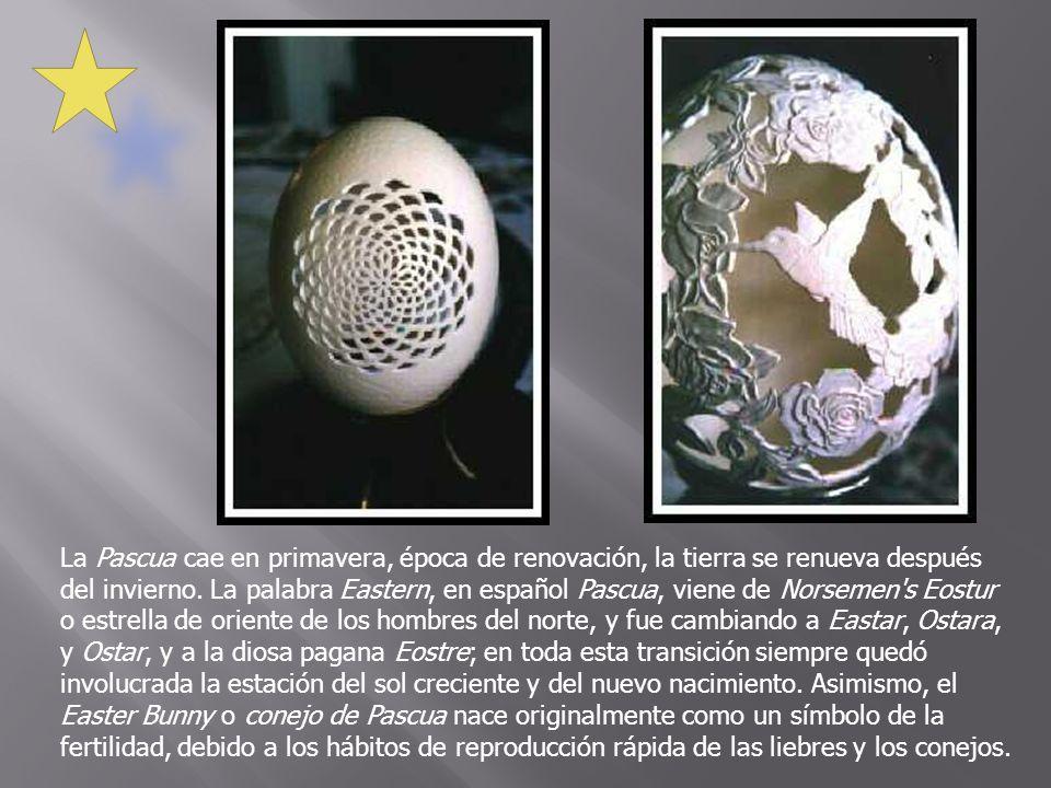 La Pascua cae en primavera, época de renovación, la tierra se renueva después del invierno. La palabra Eastern, en español Pascua, viene de Norsemen's