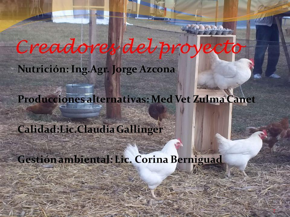 Creadores del proyecto Nutrición: Ing.Agr.