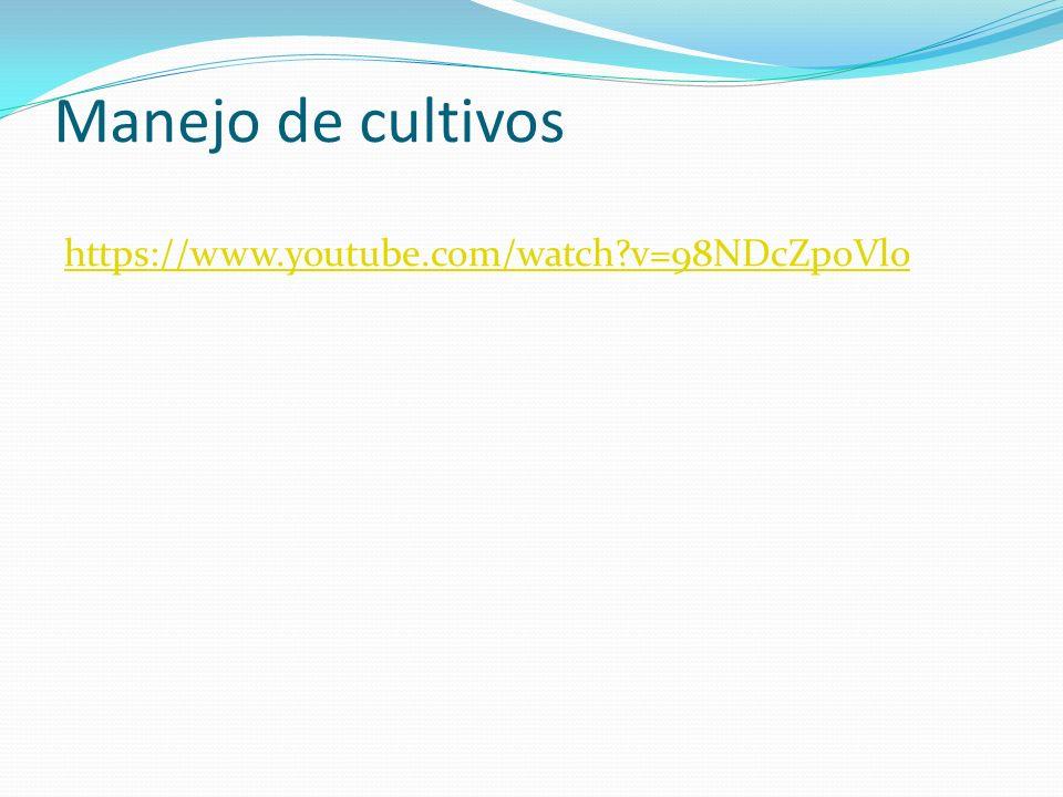 Manejo de cultivos https://www.youtube.com/watch?v=98NDcZpoVlo